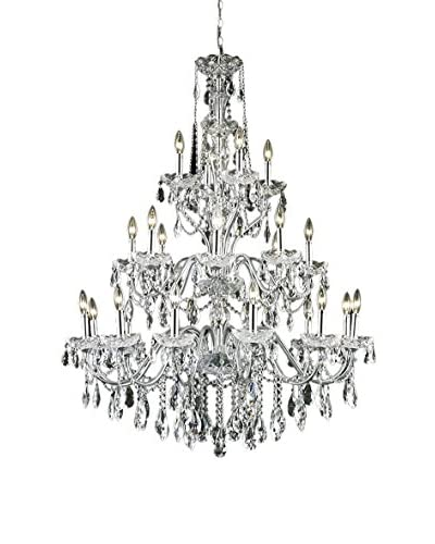 Crystal Lighting St. Francis 24-Light Chandelier, Chrome