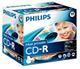 Philips - 10 x CD-R - 700 MB ( 80min ) 52x - printable surface - jewel case - storage media