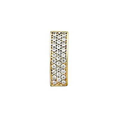 18k gold pendant elongated zircons [AA4762]