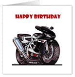 Genuine Koolart Yamaha YZF-R6 Caricature Motorbike Birthday Card (Kool Art Motorcycle Greetings Gift Cards)