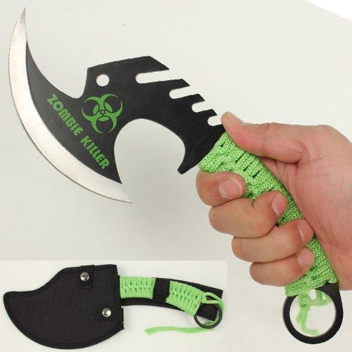 Zombie Killer Skullsplitter Throwing Axe - Green