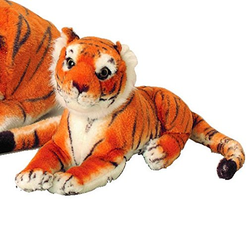 One Realistic Plush Tiger In Laying Position