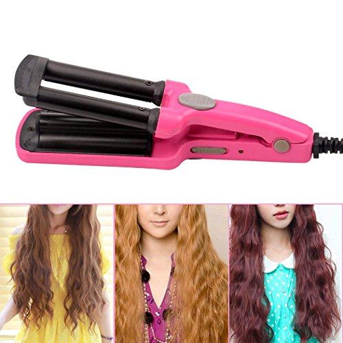 inkint Hair Modeling Clip Mini Portable 3 Barrel Hair Curler Curling Wand with Tourmaline Ceramic for Wet and Dry Fast Hair Beauty Styling Tools (Mini Hair Machine compare prices)