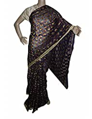Beautiful RUDA Designer Phulkari Embroidered Saree-JS1101