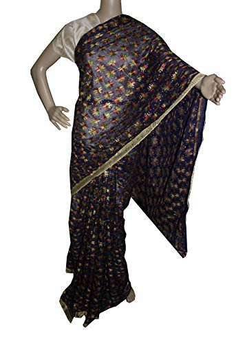 Beautiful RUDA Designer Phulkari Embroidered Saree-JS1101
