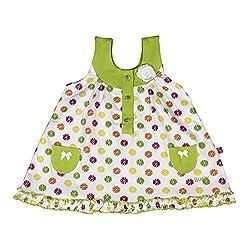 Buzzy Baby-Girls' Dress (White,9-12M)
