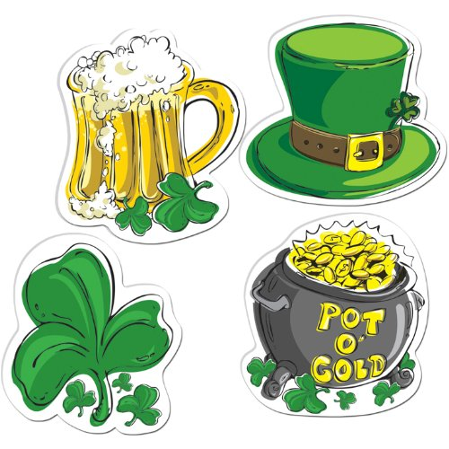 St Patrick's Day Cutouts Party Accessory (1 count) (1/Pkg)