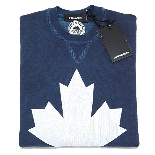 2230L felpa uomo blu DSQUARED D2 felpe sweatshirts men [XS]
