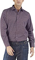Silkina Men's Regular Fit Shirt (VPOI1227F, 40)