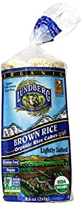 Lundberg Organic Brown Rice Cakes (Lightly Salted), 8.5-Ounces (Pack of 12)