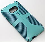 Speck CandyShell Grip Case for HTC One M7 SPK-A1975 With Bonus Stereo Headphone Headset Combo (By Healthy Spending) (Deep Pool Blue)