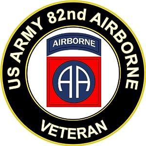 Amazon.com: US Army Veteran 82nd Airborne Sticker Decal 3.8