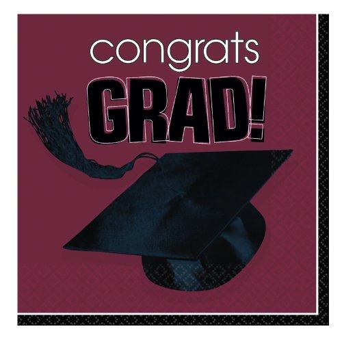 Congrats Grad Berry Graduation Beverage Napkins