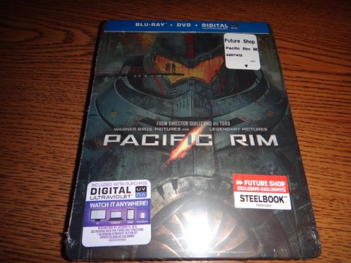 Pacific Rim Collectible Steelbook [Blu-Ray + DVD + Ultraviolet] NEW