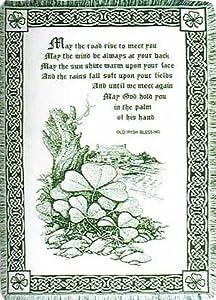 irish blessing ireland cotton throw blanket