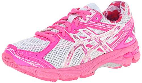 ASICS GT 1000 3 GS PR Running Shoe,White/Hot Pink/Pink Ribbo