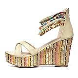 Getmorebeauty-Womens-Weave-Wedge-With-Pearls-Across-The-Top-Platform-High-Heels