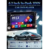 Ouku 6.2 2Din LCD TFT In Dash Car DVD Player With DVD CD MP3 MP4 USB SD Radio BT Stereo Audio GPS Navigation With...