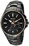 Seiko Men's SRN066 Coutura Kinetic Retrograde Analog Display Japanese Quartz Black Watch