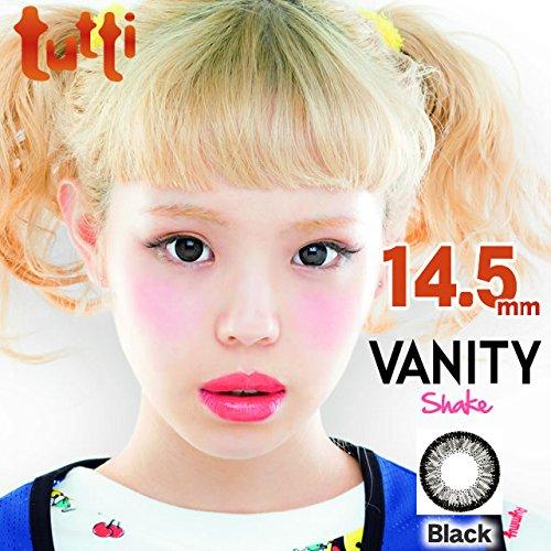 ±0.00 カラコン tutti VANITY Shake ヴァニティシェイク ブラック DIA14.5mm