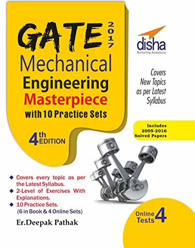 GATE 2017 Mechanical Engineering Masterpiece with 10 Practice Sets (6 in Book + 4 Online)
