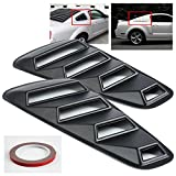 ModifyStreet 05-14 Ford Mustang 1/4 Quarter Retro Style Rear Window Louvers - Black