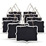 eBoot Mini Rectangle Chalkboard Label 5 x 6.5 Inch Black Board for Message Board Signs, Set of 10