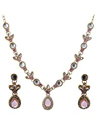 Vivanka Jewels Designer Gold Plated Kundan Necklace Set - B00MS4XZ2Q