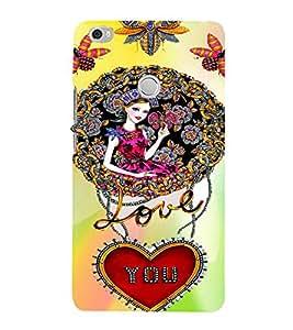 PrintVisa Butterfly Girl Love You Tribal Design 3D Hard Polycarbonate Designer Back Case Cover for Xiaomi Max
