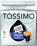 Tassimo Carte Noire Cafe Long decaffeinated 16 T Discs Medium Size decaf 150ml