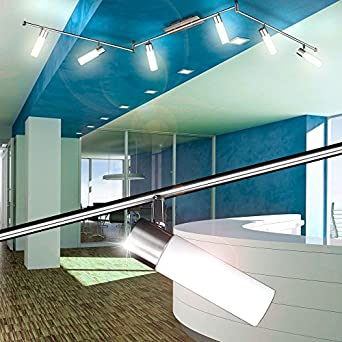 Design LED Deckenleuchte 6x 4 Watt warmweiß Deckenlampen Beleuchtung Esszimmer