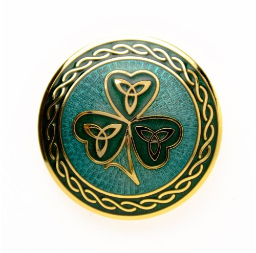 Sea Gems Shamrock Brooch