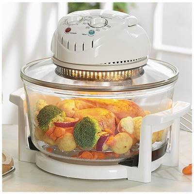 New Professional Cooks 12L Halogen Oven Defrosts, Bakes, Roasts, Steams and Even Does The Washing Up.