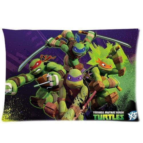 Custom TMNT Teenage Mutant Ninja Turtles Zippered Pillowcase Covers Standard Size 20x30 Inch (Two sides) (Ninja Body Pillow compare prices)