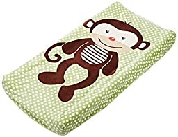 Summer Infant Baby Plush Pals Changing Pad Cover washable Green Brown Monkey