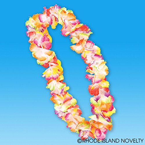 Dozen Rainbow Theme Flower Leis For Luau Party