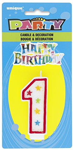 Cake Decoration #1 Glitter Birthday Candle (1ct)
