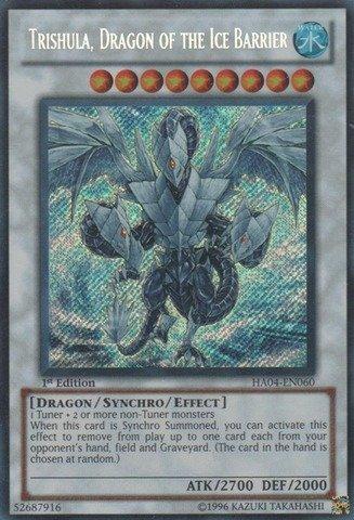 Yu-Gi-Oh! - Trishula, Dragon of the Ice Barrier (HA04-EN060) - Hidden Arsenal 4: Trishulas Triumph - Unlimited Edition - Secret Rare (Yugioh Ice Dragon compare prices)