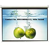 Inlight Wall Type Pull Down Spring Action Projector Screen, Size: - 106 Inches Diagonal Length In 16:9 HDTV Format...