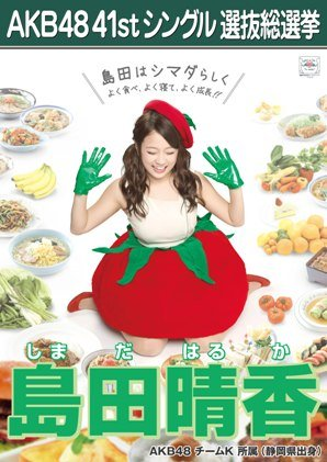 AKB48 公式生写真 僕たちは戦わない 劇場盤特典 【島田晴香】