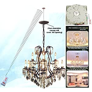 Remote Controlled Light Lift Control Chandelier Hoist Pulley Lifts