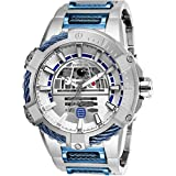 26206 - INVICTA Star Wars Men 53mm Stainless Steel Stainless Steel Blue+Silver dial NH70 Automatic (Color: Silver)