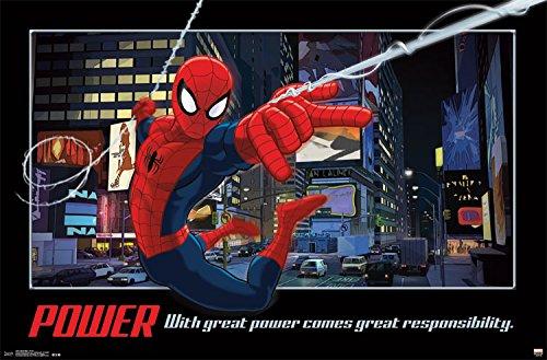 "Trends International RP14021 Spider-Man Power Wall Poster, 22.375"" x 34"""
