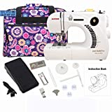 Janome 661G Jem Gold Plus Trim and Stitch Sewing Machine Bundle with Tote Bag