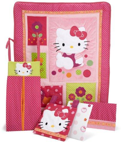 Lambs & Ivy Hello Kitty Garden 5 Piece Set, Raspberry front-1063319
