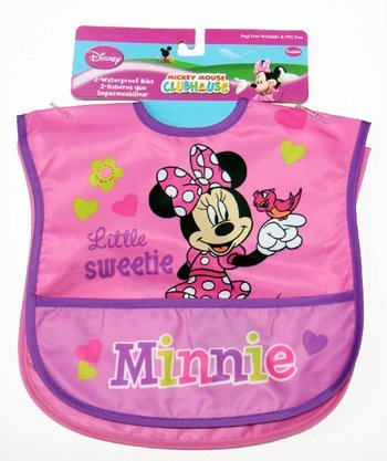 Minnie Mouse 2 Pack Waterproof Bibs