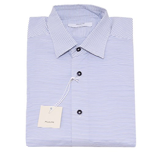 8348P camicia righe manica lunga AGLINI SHIRTMAKERS camicie uomo shirt men [38]