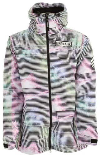 R1NK5 Grenade Men's Static Jacket, White, Extra Large