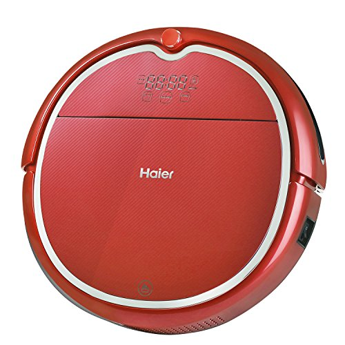 Haier Robot Vacuum Cleaner Floor Cleaner with Wet Mop and Self Charging with Remote Control Red (Rumba Robot Vacuum compare prices)