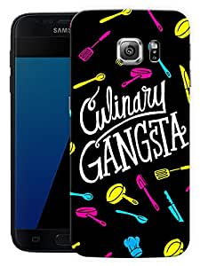 """Humor Gang Culinary Gangsta Printed Designer Mobile Back Cover For """"Samsung Galaxy S7"""" (3D, Matte, Premium Quality Snap On Case)"""
